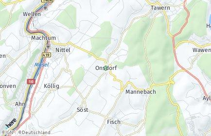 Stadtplan Onsdorf