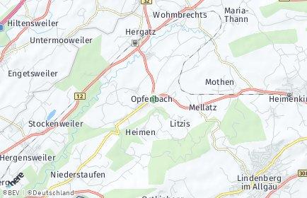 Stadtplan Opfenbach