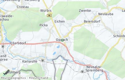 Stadtplan Oppach