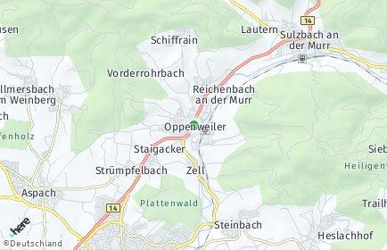 Stadtplan Oppenweiler