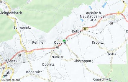 Stadtplan Oppurg