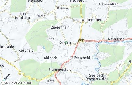 Stadtplan Orfgen