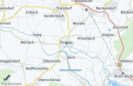 Stadtplan Ornbau