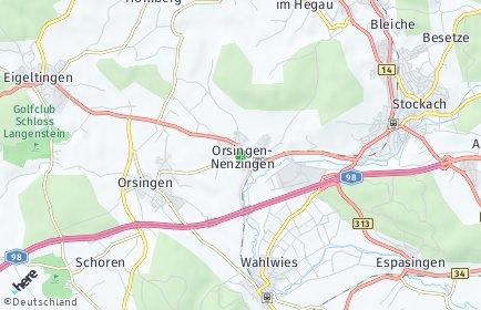 Stadtplan Orsingen-Nenzingen