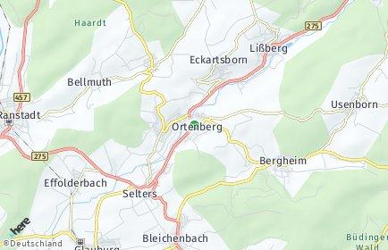 Stadtplan Ortenberg (Hessen)