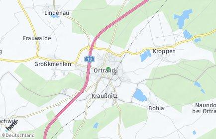 Stadtplan Ortrand