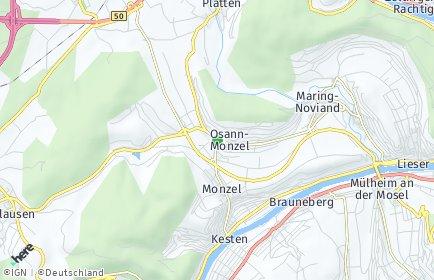 Stadtplan Osann-Monzel