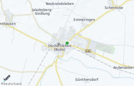 Stadtplan Oschersleben (Bode) OT Oschersleben