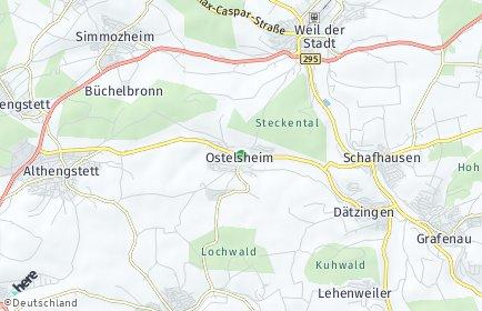 Stadtplan Ostelsheim