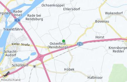Stadtplan Ostenfeld (Rendsburg)