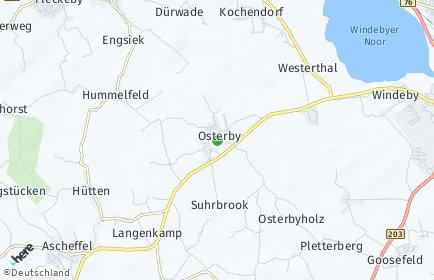 Stadtplan Osterby bei Eckernförde