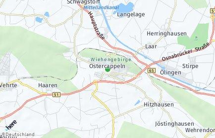 Stadtplan Ostercappeln