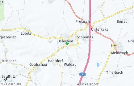 Stadtplan Osterfeld bei Naumburg