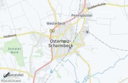 Stadtplan Osterholz-Scharmbeck OT Kattenhorn