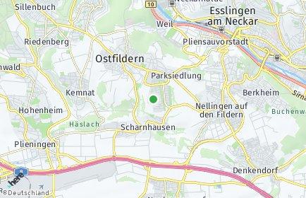 Stadtplan Ostfildern