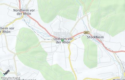 Stadtplan Ostheim vor der Rhön