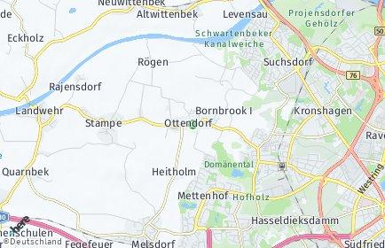 Stadtplan Ottendorf bei Kiel