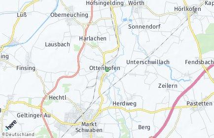Stadtplan Ottenhofen OT Unterschwillach