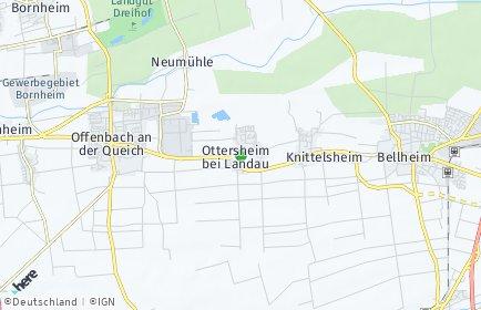 Stadtplan Ottersheim bei Landau