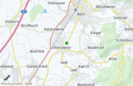 Stadtplan Ottersweier