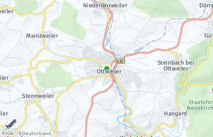 Stadtplan Ottweiler