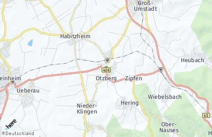 Stadtplan Otzberg