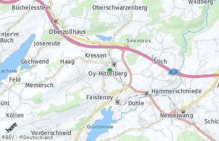 Stadtplan Oy-Mittelberg