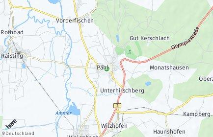 Stadtplan Pähl