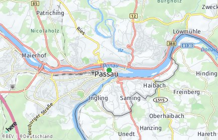 Stadtplan Passau