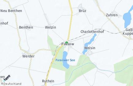 Stadtplan Passow (Mecklenburg)