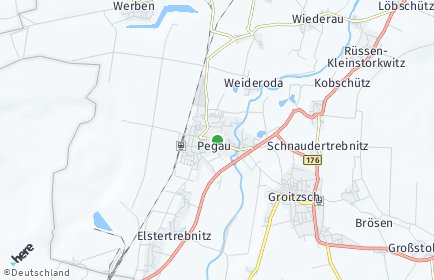 Stadtplan Pegau