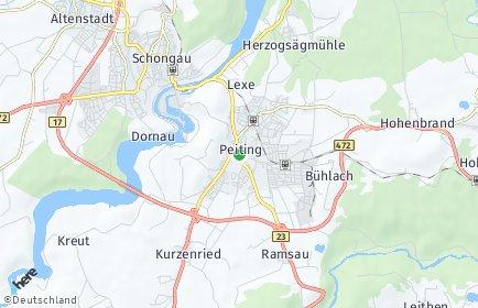 Stadtplan Peiting