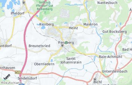 Stadtplan Penzberg