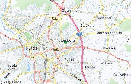 Stadtplan Petersberg (Hessen)