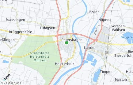 Stadtplan Petershagen (Weser)