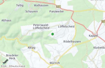 Stadtplan Peterswald-Löffelscheid