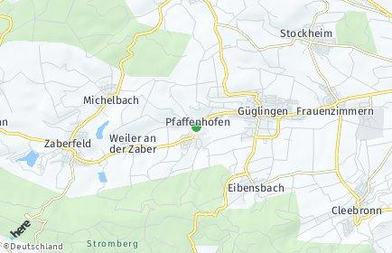 Stadtplan Pfaffenhofen (Württemberg)