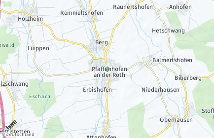Stadtplan Pfaffenhofen an der Roth