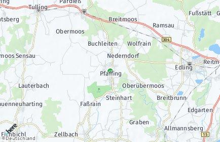 Stadtplan Pfaffing OT Hilgen bei Edling