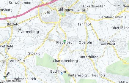 Stadtplan Pfedelbach