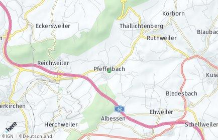 Stadtplan Pfeffelbach