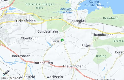 Stadtplan Pfofeld
