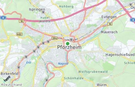 Stadtplan Pforzheim