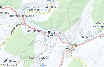 Stadtplan Philippsthal (Werra)