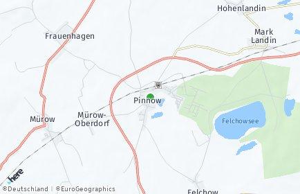 Stadtplan Pinnow (Uckermark)