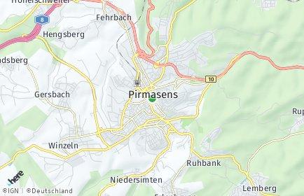 Stadtplan Pirmasens