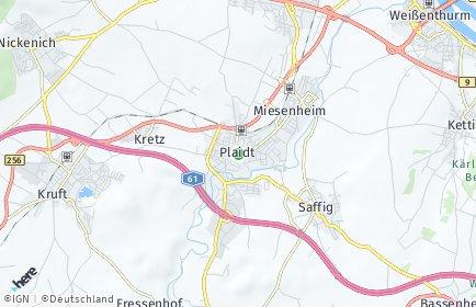 Stadtplan Plaidt