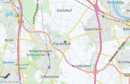 Stadtplan Plankstadt