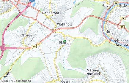 Stadtplan Platten bei Wittlich