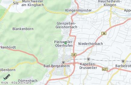 Stadtplan Pleisweiler-Oberhofen